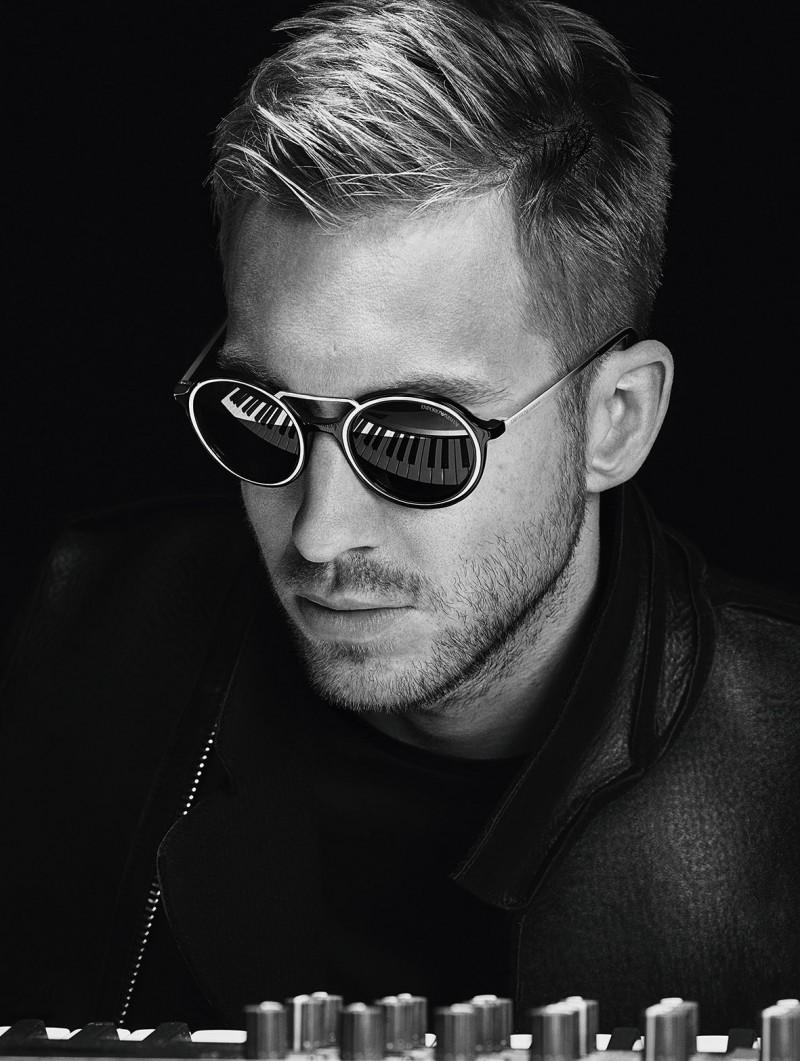 Calvin Harris rocks modern shades for Emporio Armani fall-winter 2015 menswear campaign.