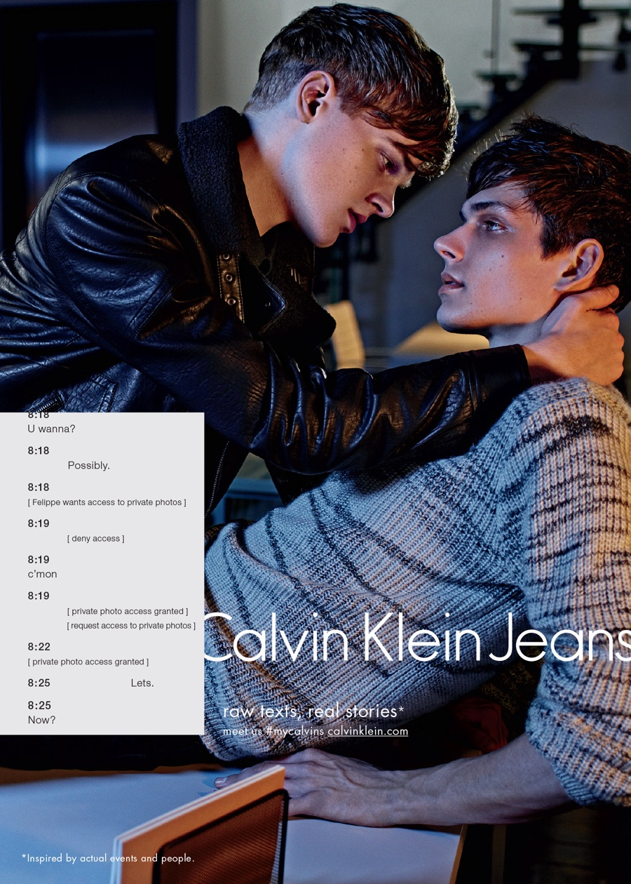 Calvin Klein Jeans Fall/Winter 2015 Campaign: Texts & Sex
