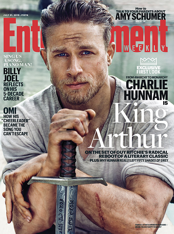 Charlie Hunnam Covers Entertainment Weekly as 'King Arthur'