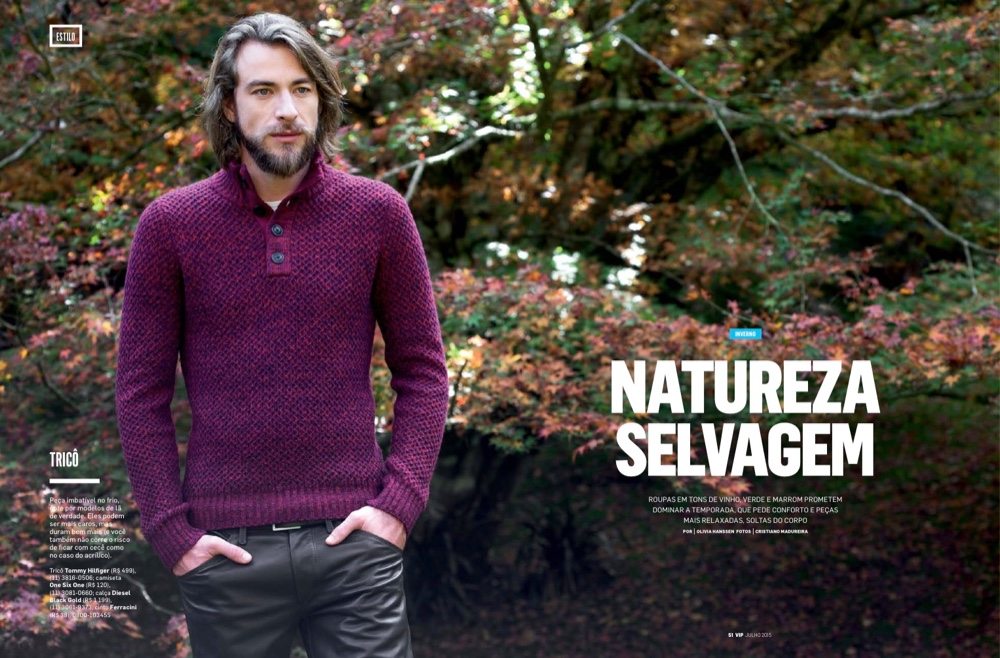 Diogo Veiga Models Outdoors Fashions for VIP Brazil Editorial