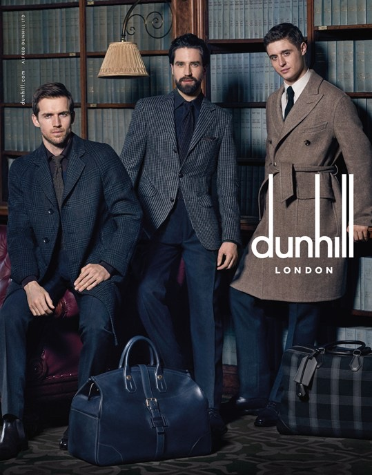 Dunhill Fall/Winter 2015 Campaign Stars Max Irons, Andrew Cooper + Jack Guinness