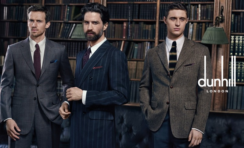 Andrew Cooper, Jack Guinness and Max Irons for Dunhill Fall/Winter 2015 Campaign