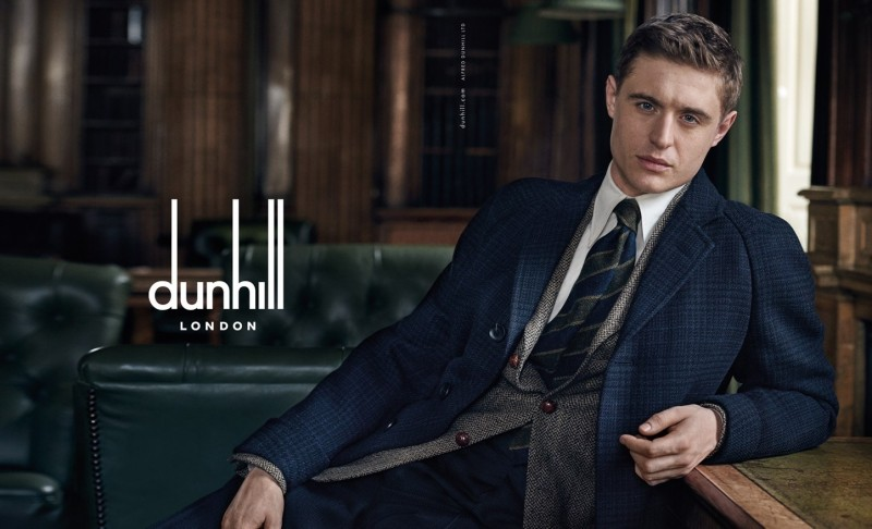 Max Irons dons sharp tailoring for Dunhill Fall/Winter 2015 Campaign