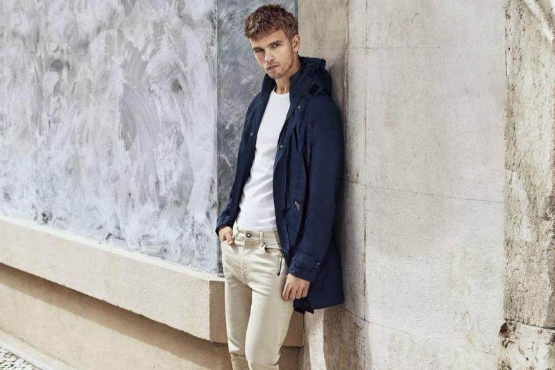Benjamin Eidem Models H&M Fall 2015 Men's Fashions