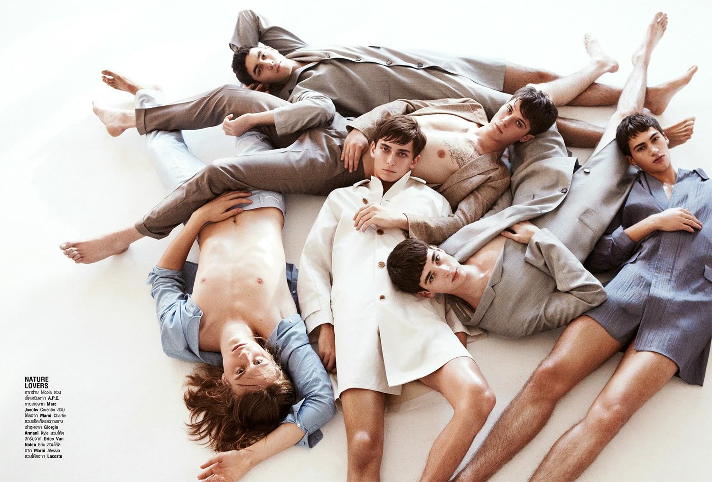 Models Celebrate Summer in the City for Harper's Bazaar Thailand Men