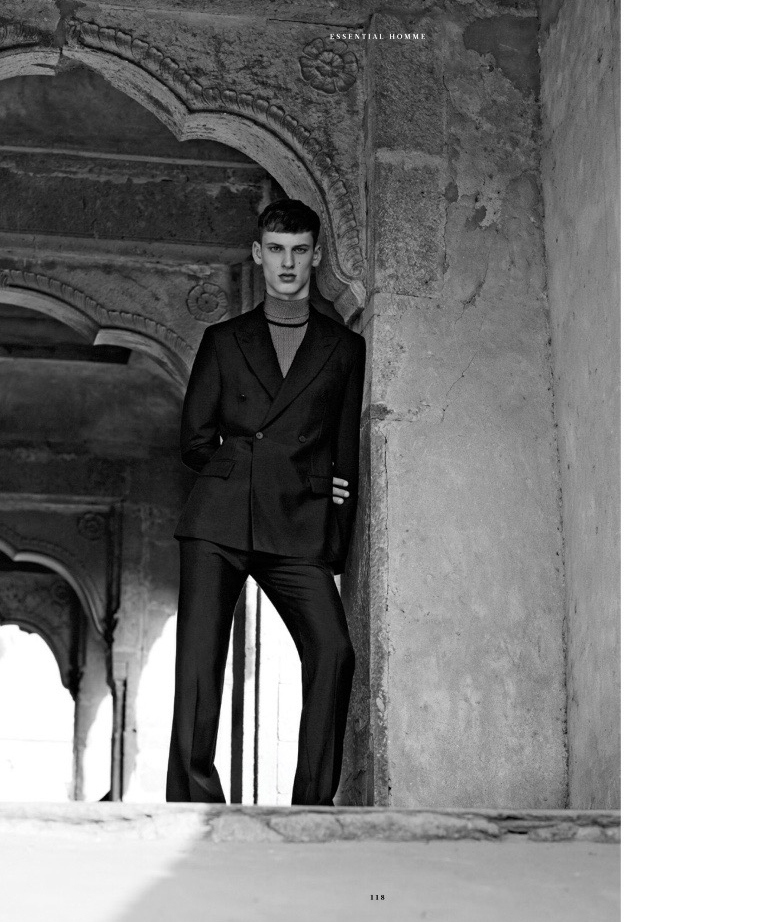 David Trulik Models Louis Vuitton Looks for Essential Homme