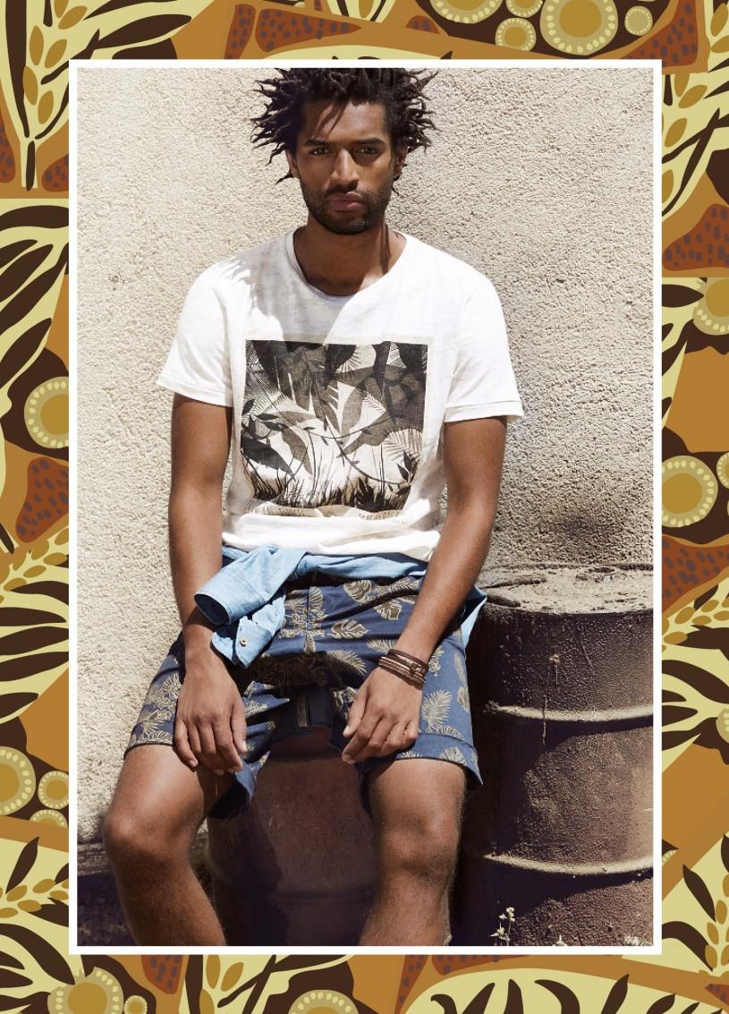 Thiago Santos Embraces Summer in Mango's Tembo Collection