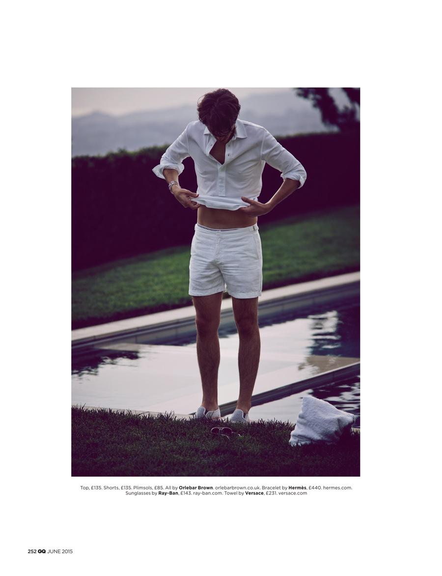 Matt Clunan is White-Hot for British GQ Editorial