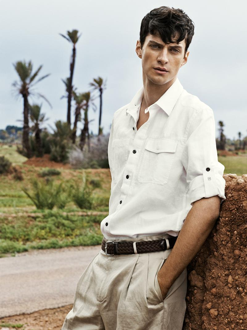 Matthew Bell is Safari Chic for Plaza Editorial