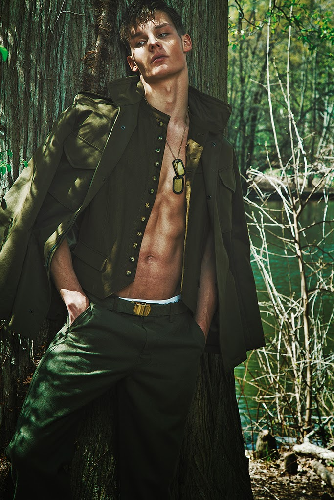 Fall Military Styles Shine in Men's Week Editorial