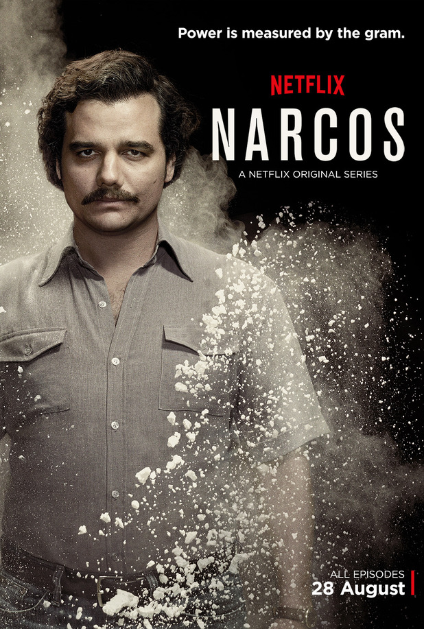 Wagner Moura as Pablo Escobar in Narcos