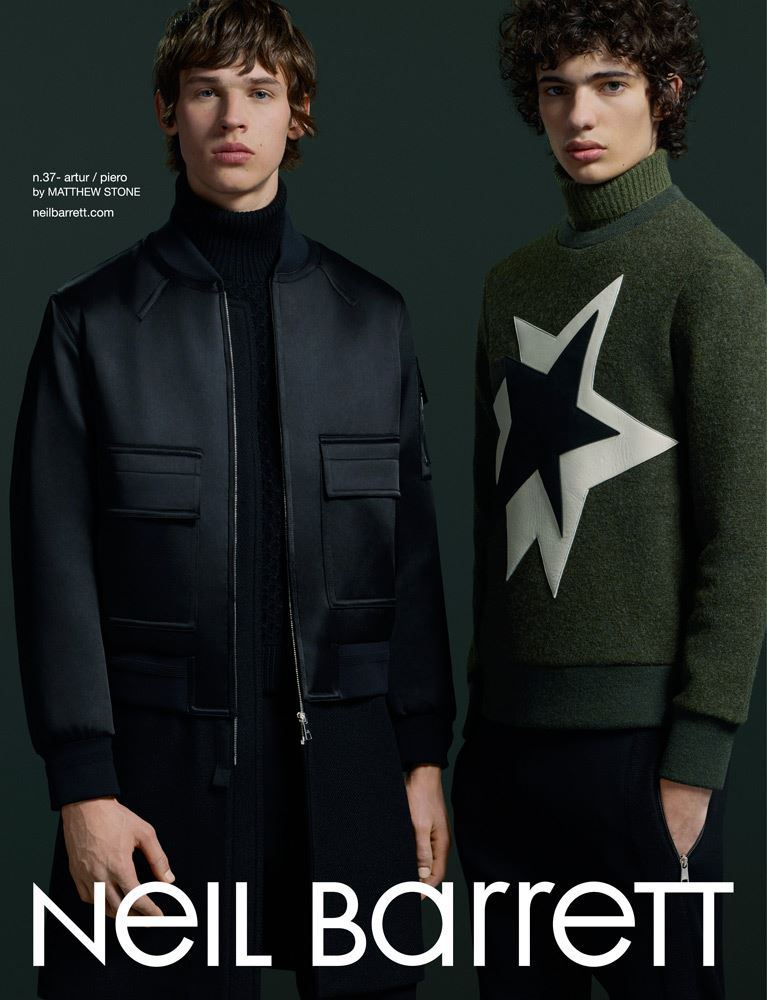 Neil Barrett Fall/Winter 2015 Campaign Stars Artur Chruszcz + Piero Mendez