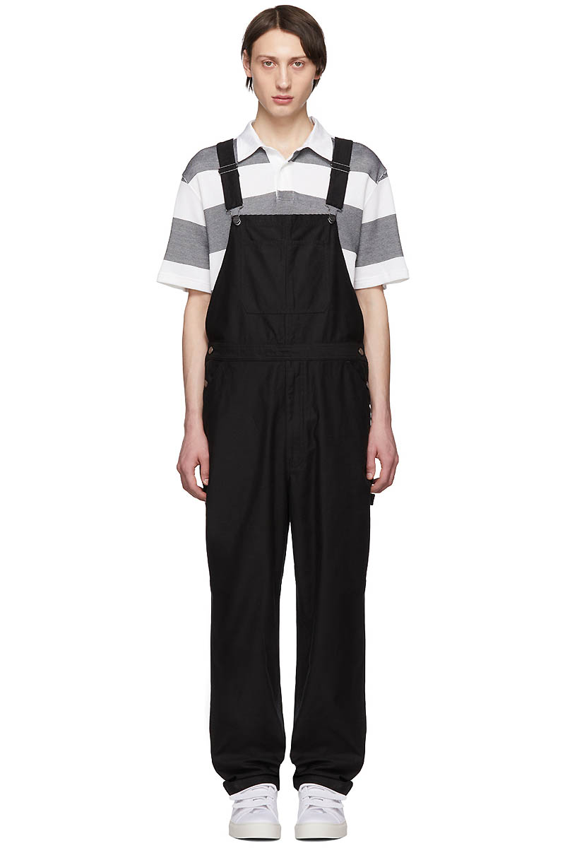 Saturdays NYC Black Sigrid Overalls $245