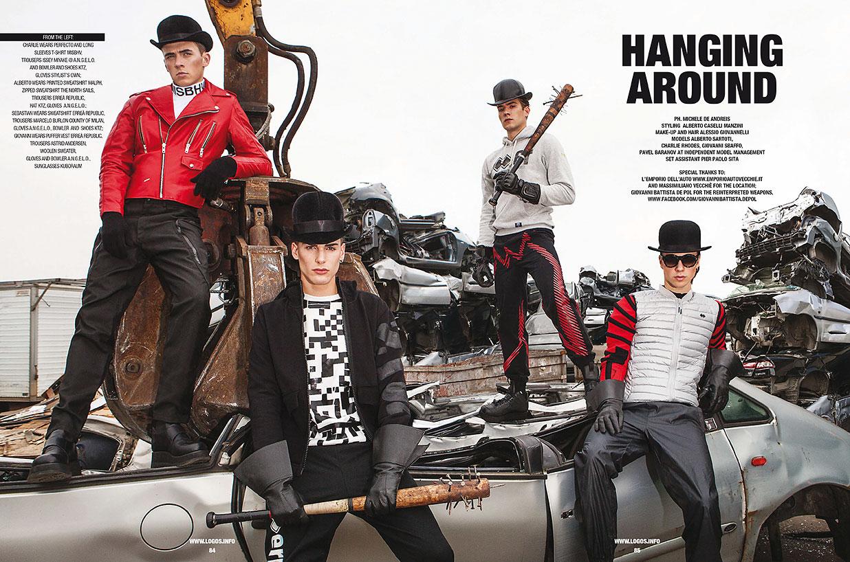 Models Go Underground for Sport & Street Cover Shoot