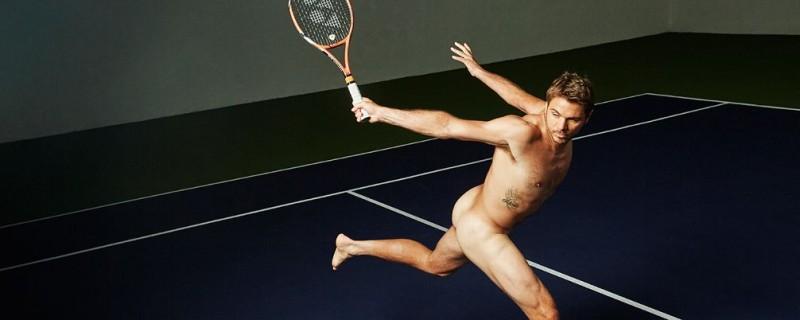 Tennis player Stan Wawrinka strikes a pose for ESPN magazine's 2015 The Body Issue.