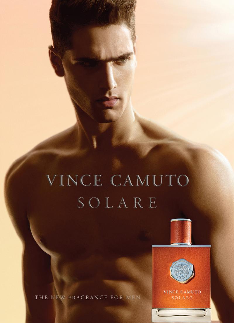Fabio Mancini Fronts Vince Camuto Solare Fragrance Campaign