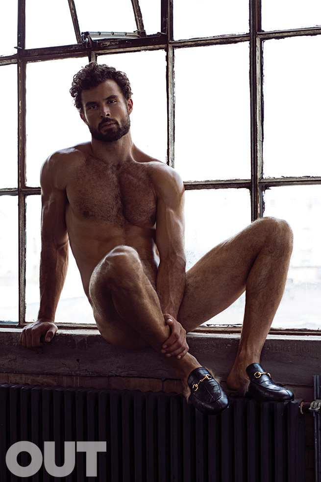 Walter Savage Goes Nude for OUT Accessories Spread