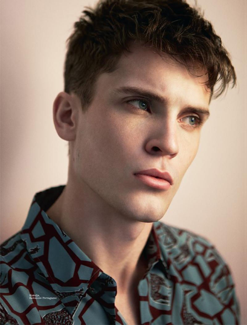 William Eustace Models Salvatore Ferragamo for Elle Man Serbia