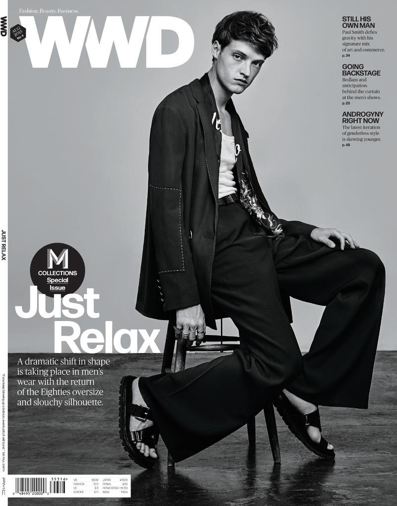 Model Dane Bell covers WWD