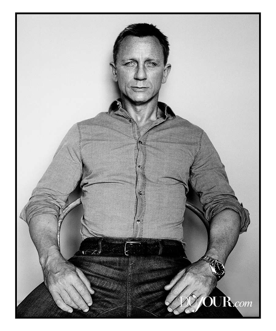 Daniel Craig Shoots with DuJour, Talks Doing Own Stunts