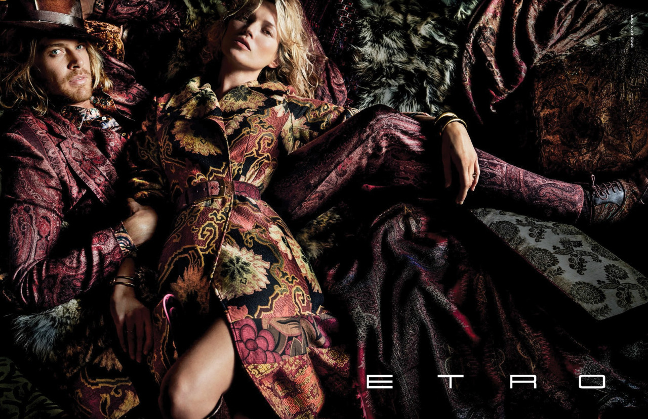 Etro Fall/Winter 2015 Campaign: Nick Fouquet Joins Kate Moss