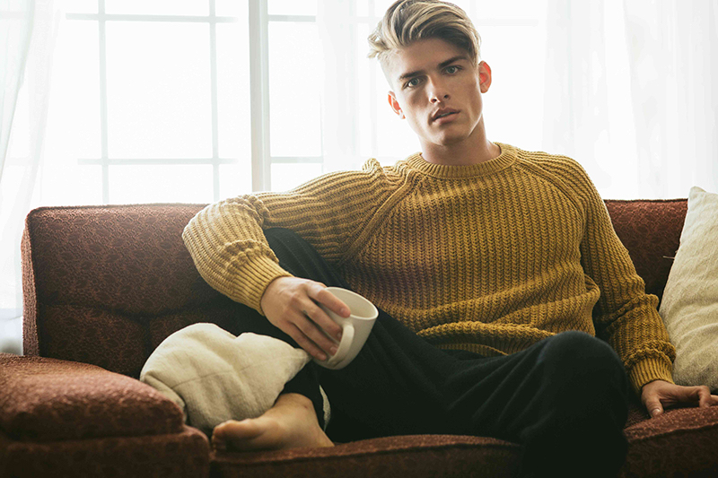 Austin wears sweater H&M and pants Topman.
