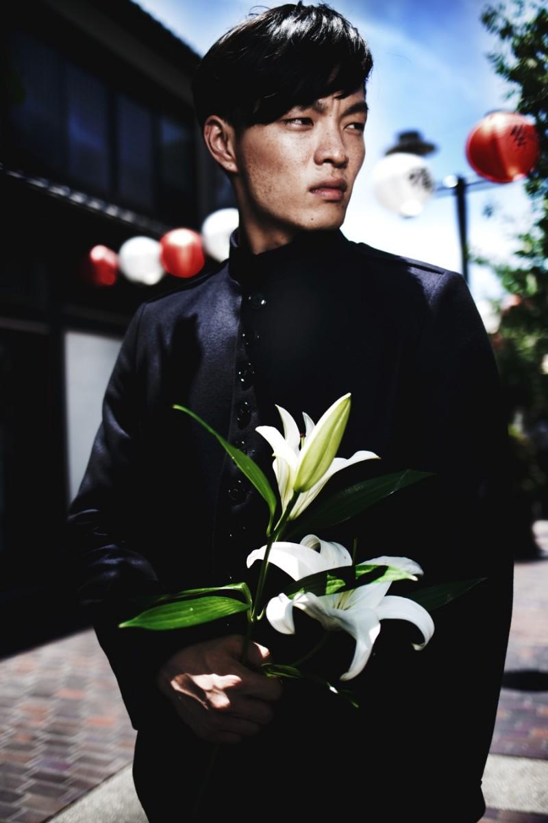 Satoshi wears reversible jacket Dries Van Noten.