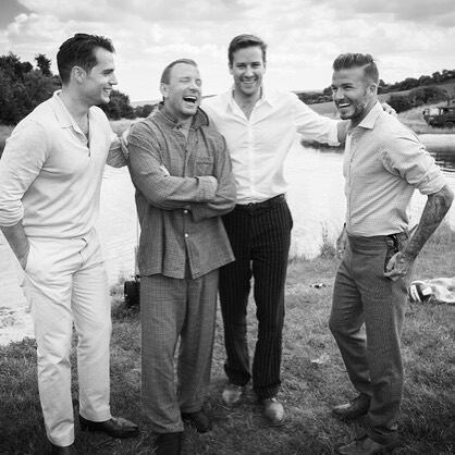 David Beckham Hangs Out with 'The Man from U.N.C.L.E.' Cast