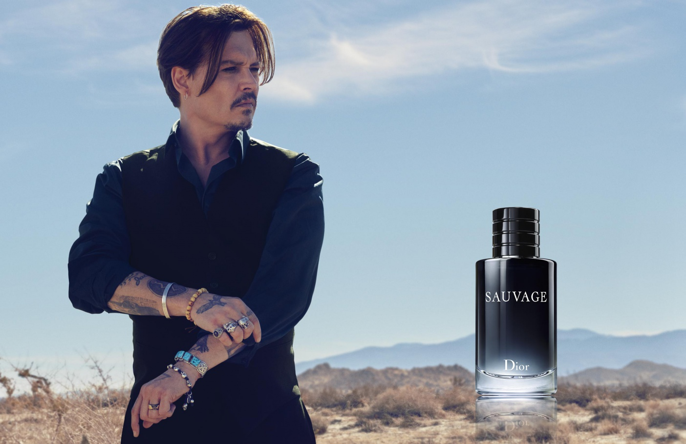 Johnny Depp Fronts Dior Sauvage Fragrance Campaign