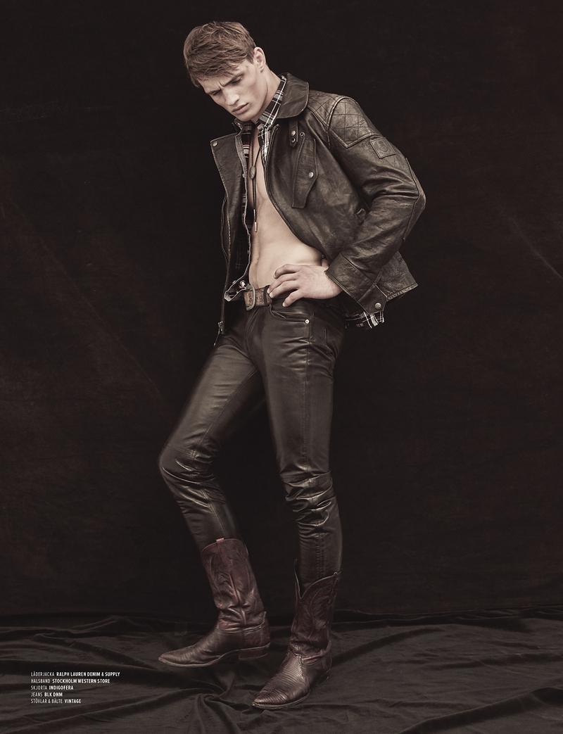 Julian Schneyder Models Cowboy Style In For Boy Fashion Editorial
