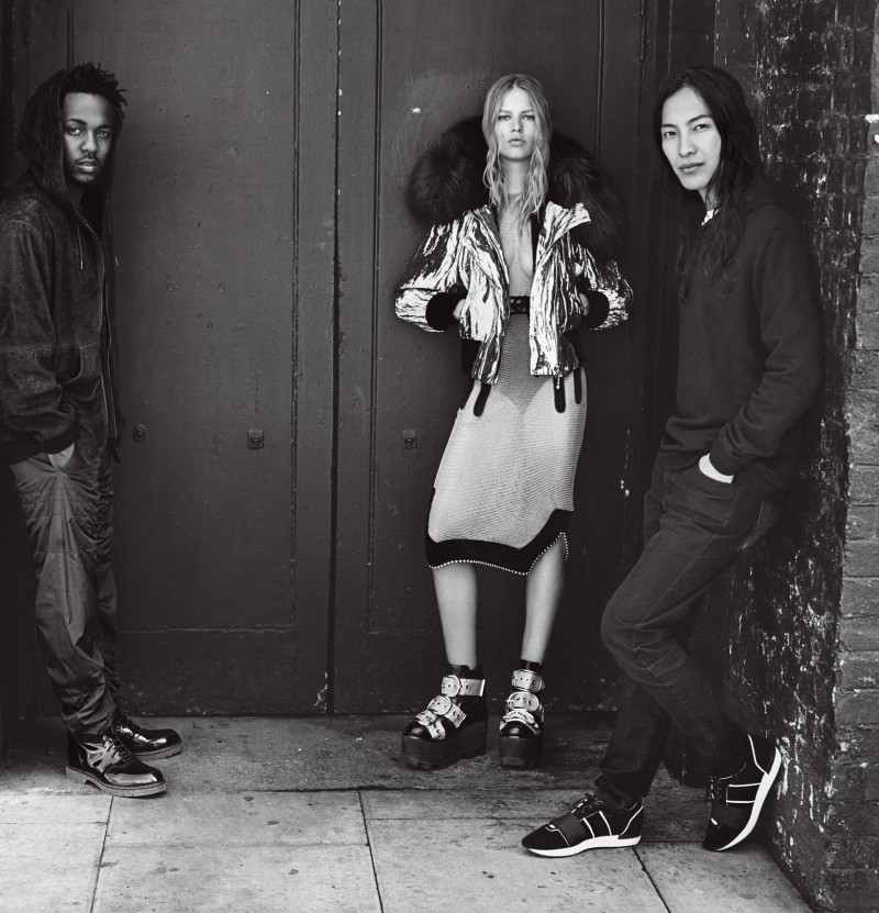 Rapper Kendrick Lamar, model Anna Ewers and designer Alexander Wang for Vogue's September 2015 issue.