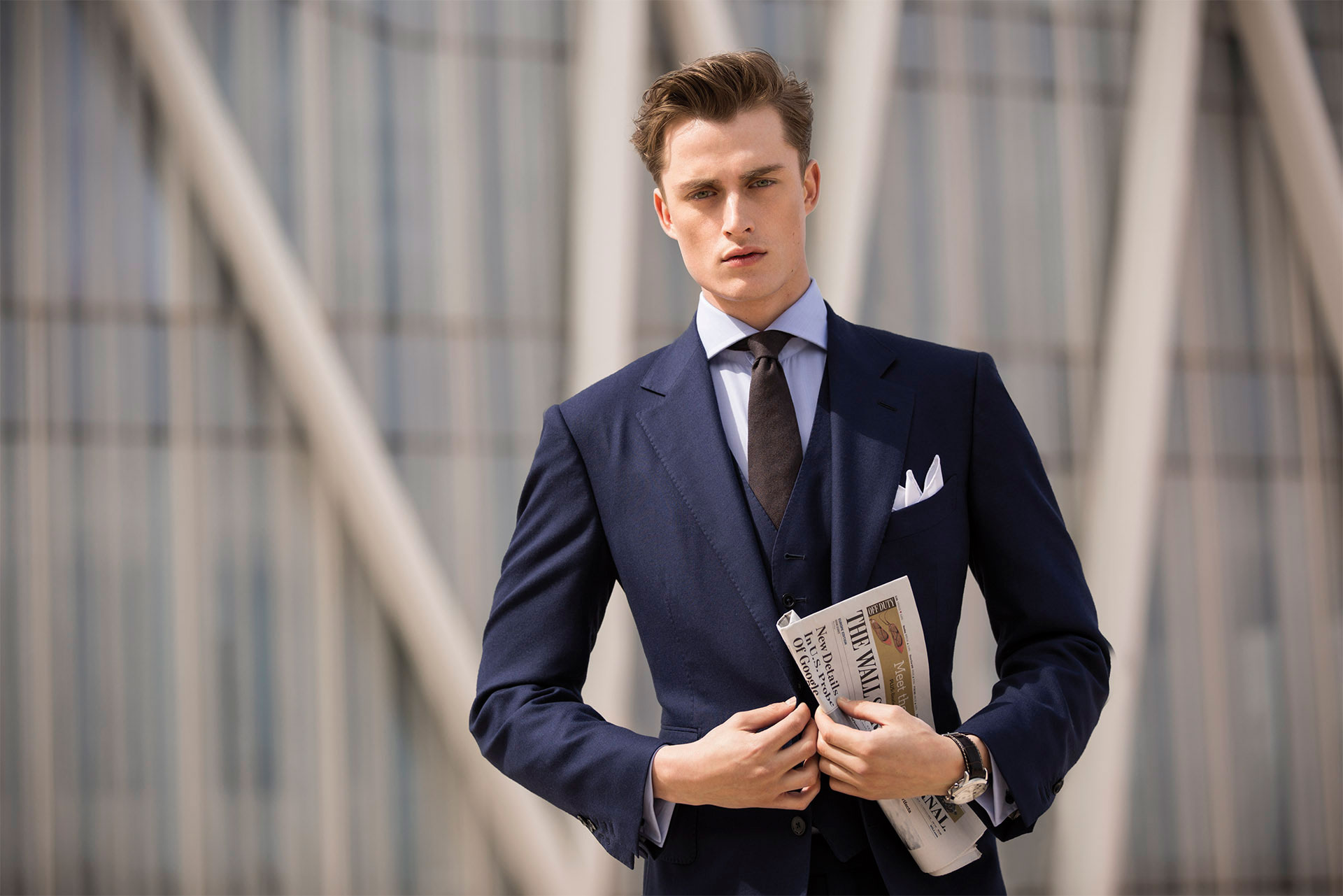 Business Luxe: Bastiaan van Gaalen Models Massimo Dutti 'Personal Tailoring' Suits