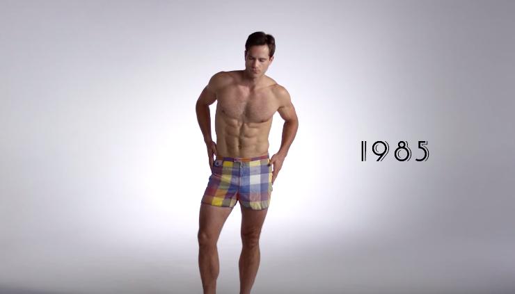 65d9de0912bee 100 Years of Men s Fashions. Men s Swimwear 1985