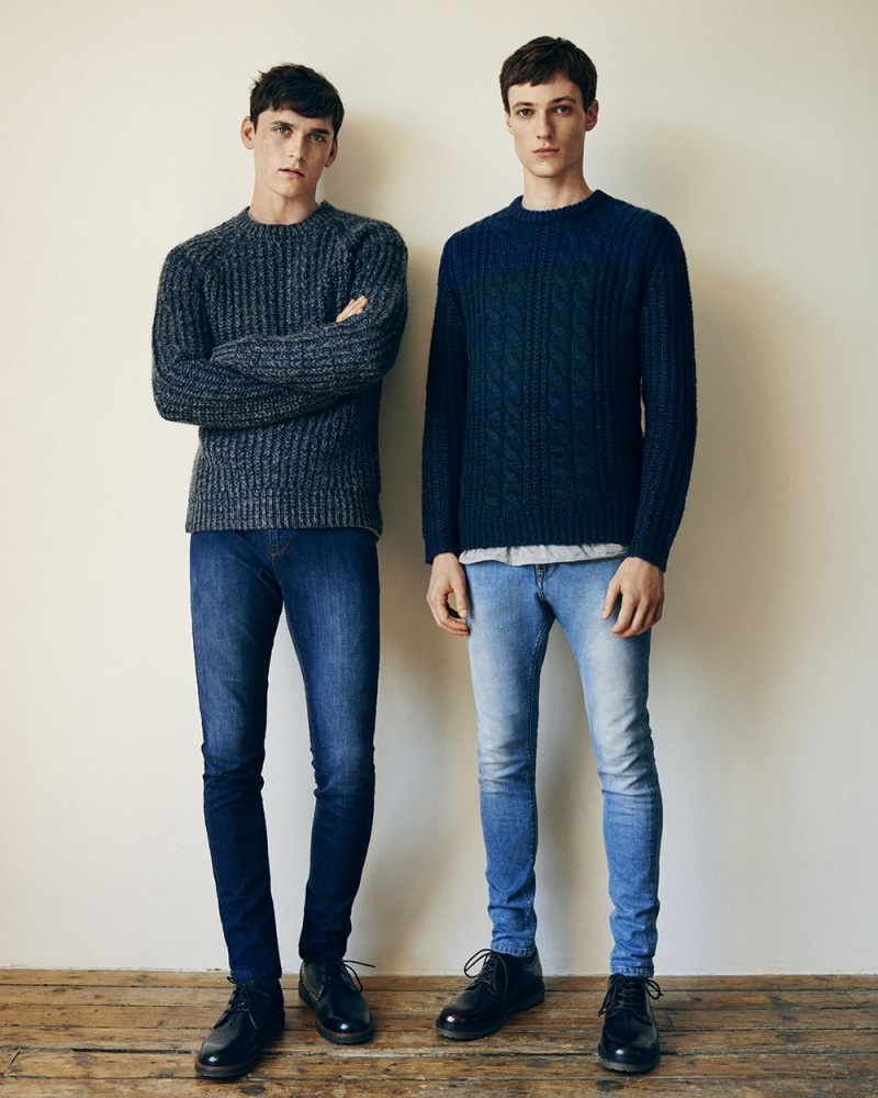 Anders Hayward and Tommaso de Benedictis go casual in crewneck sweaters.