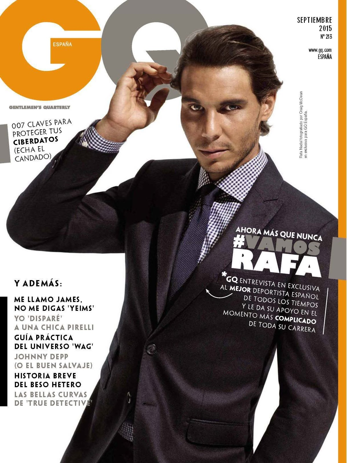 2015 Gq Men Of The Year Party In Los Angeles: Rafael Nadal Covers September 2015 GQ España