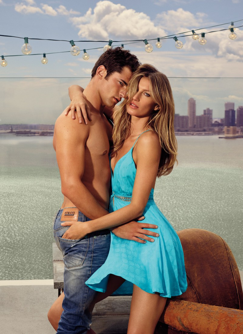 Sean O'Pry and Gisele Bündchen for Colcci's spring-summer 2016 campaign.