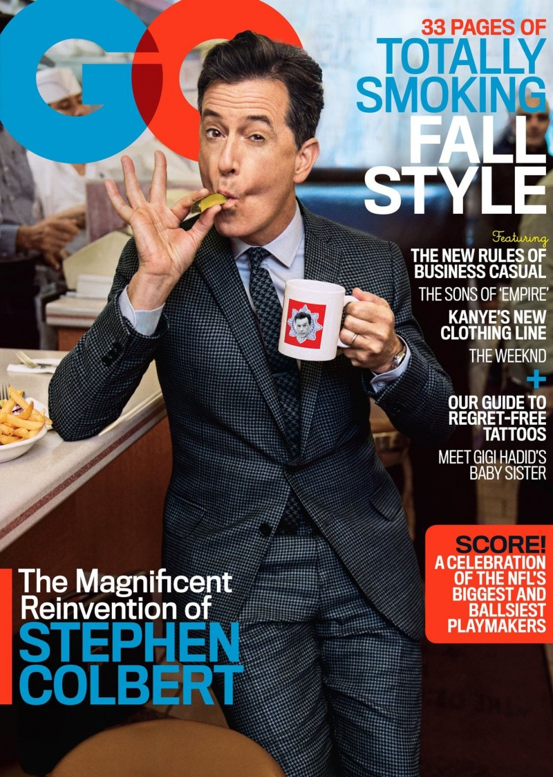 Stephen Colbert covers the September 2015 issue of GQ