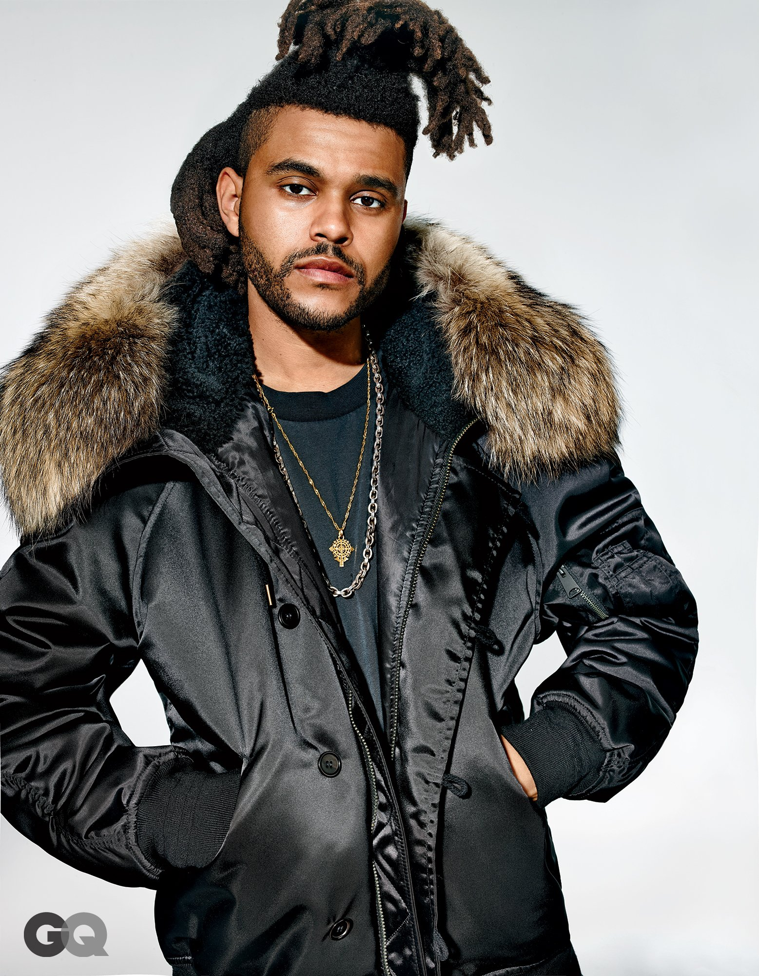 The Weeknd Rocks Kanye West Adidas Yeezy Season 1 Collection for GQ