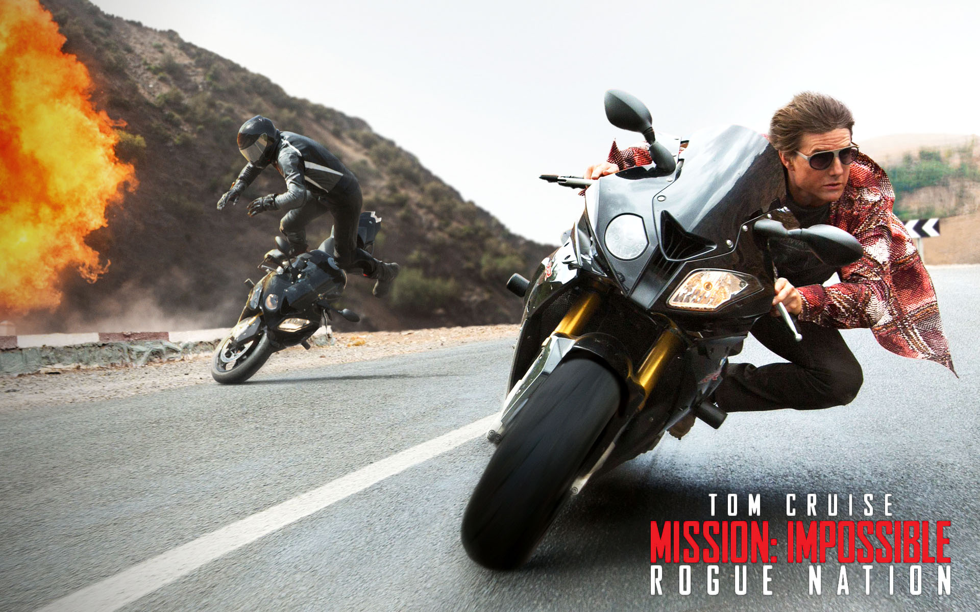 Tom Cruise Mission Impossible Rogue Nation Sunglasses Picture Motorcycle