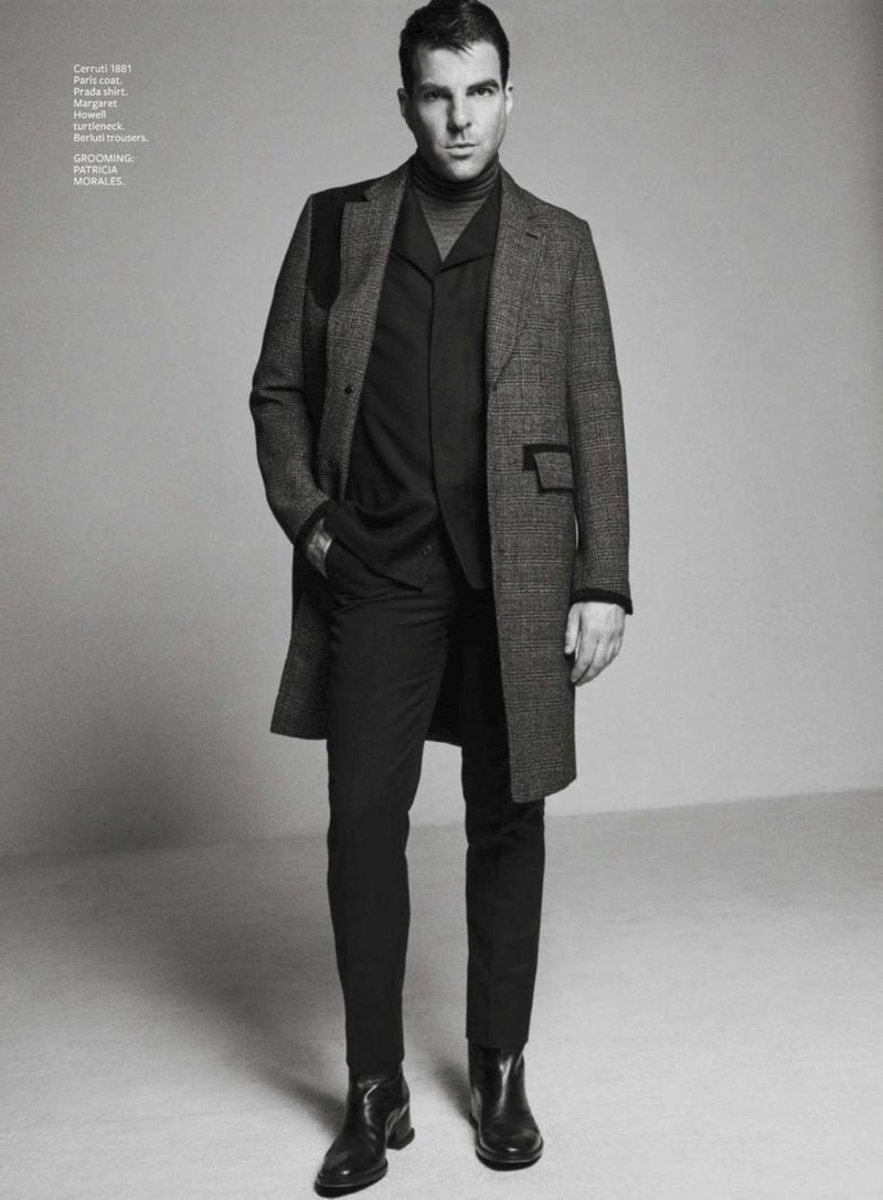 Zachary Quinto Sports Fine Tailoring for InStyle Shoot