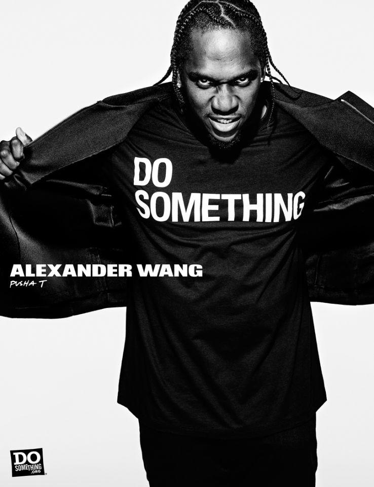 Pusha T for Alexander Wang x DoSomething Campaign