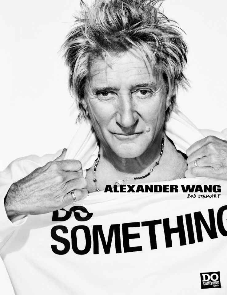 Rod Stewart for Alexander Wang x DoSomething Campaign