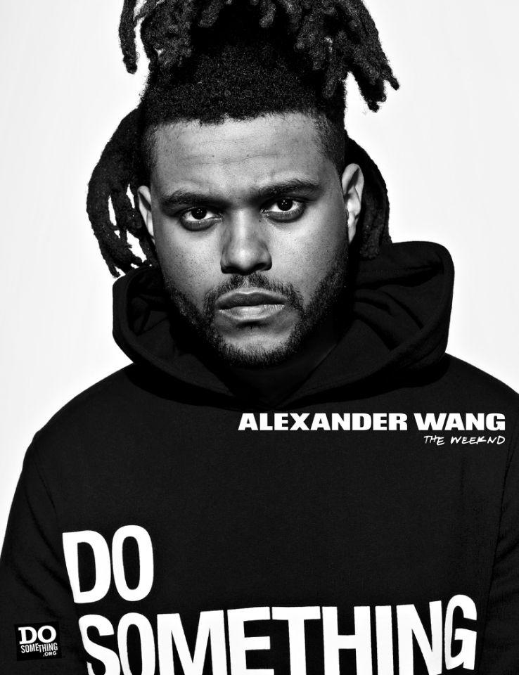 The Weeknd for Alexander Wang x DoSomething Campaign