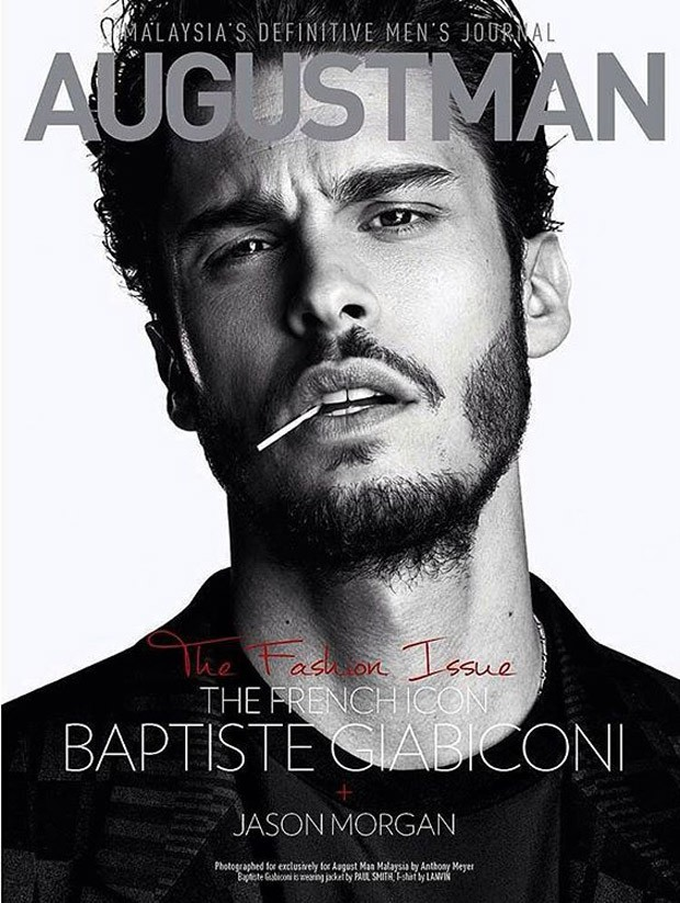 Baptiste Giabiconi lands a cover for August Man Malaysia. Photographed by Anthony Meyer, Baptiste is styled by Sara Bascunan with creative direction by Melvin Chan.