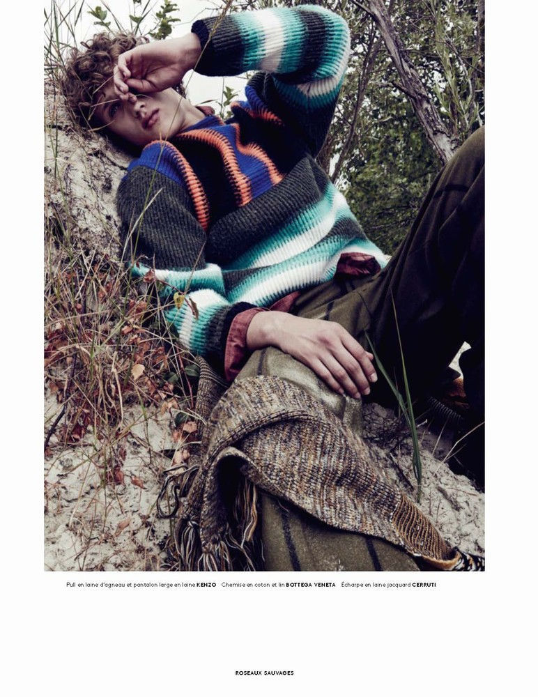 Bram Valbracht Cozies Up to Fall Knits for Vogue Hommes