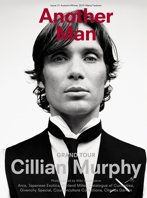 Actor Cillian Murphy links up with fashion photographer Willy Vanderperre for the latest issue of British men's magazine Another Man. Murphy hits the studio, posing for formal black & white portraits, making two covers for Another Man's fall-winter 2015 issue.