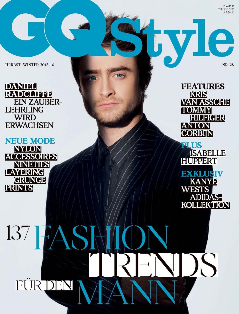Daniel Radcliffe covers the fall-winter 2015 edition of GQ Style Germany.
