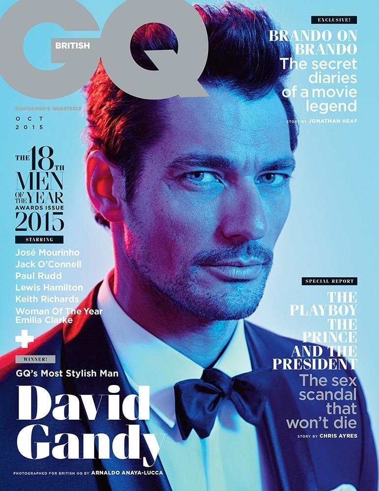 David Gandy Dons Tuxedo For British GQ Cover Shoot