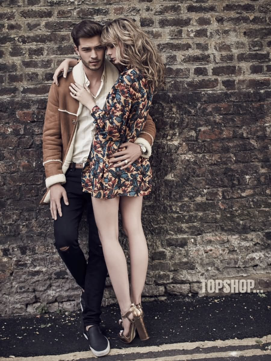 Francisco Lachowski Joins Wife Jessiann for a Fall Love Story