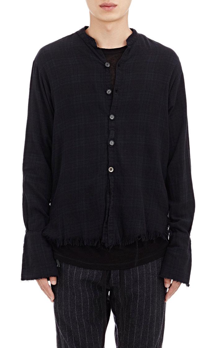 Greg Lauren Plaid Flannel Shirt